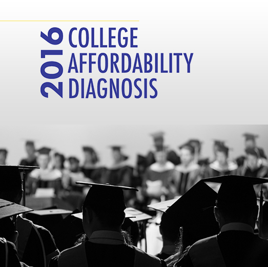 2016 College Affordability Diagnosis Report Cover Page with Title